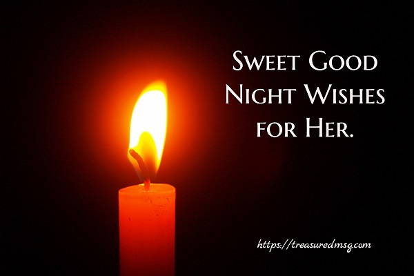 Sweet Good Night Wishes for Her