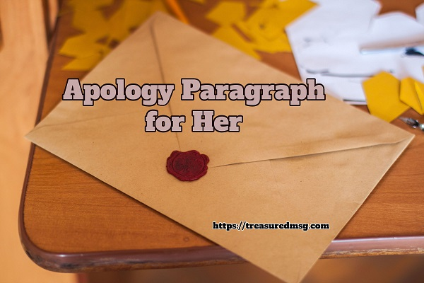 Apology Paragraph for Her