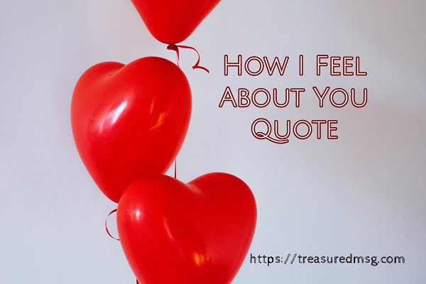 How I Feel About You Quote